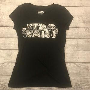 Star Wars Black and White Graphic Tee